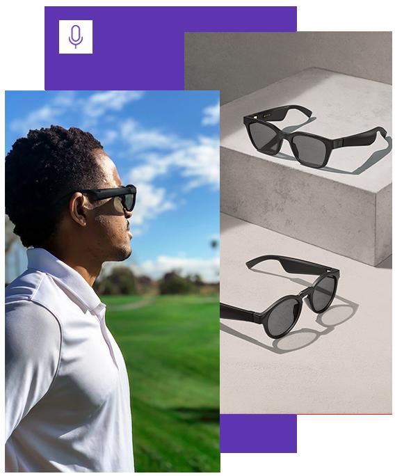 golfer wearing Bose Frames